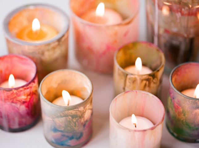 Marble DIY Candle Holders