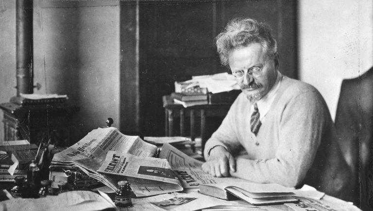 Leon Trotsky while in exile.