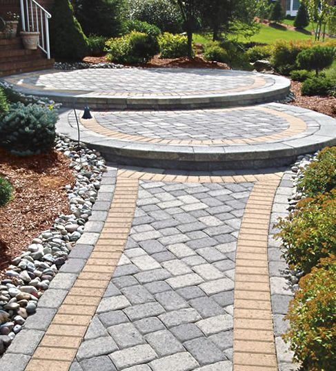 Covered Walkway Designs For Homes: Ground Cover Between Pavers