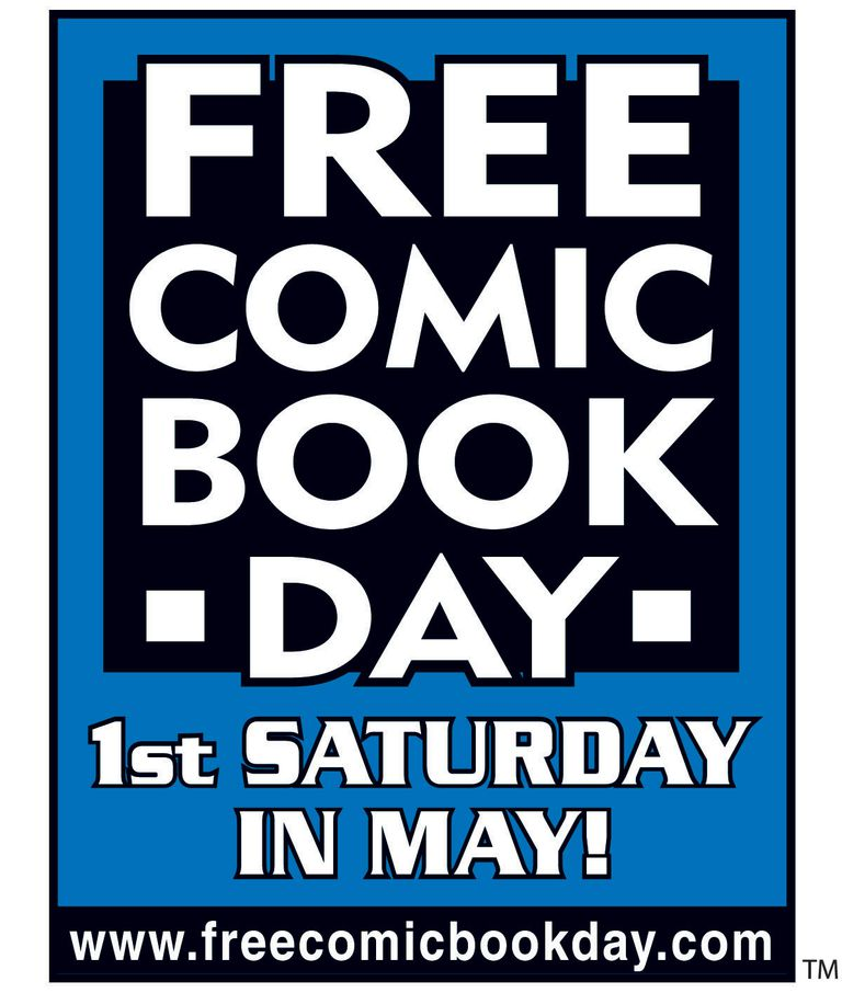 Picture of a book cover that says Free Comic Book Day