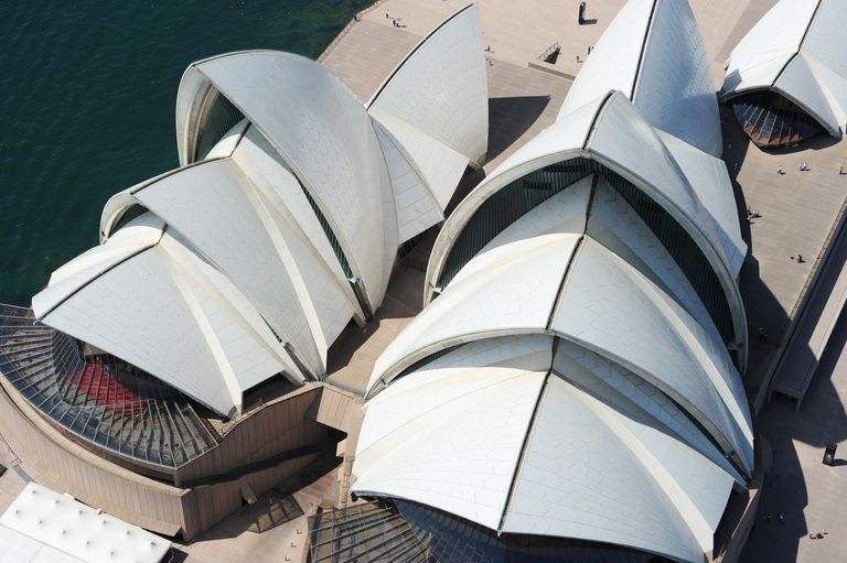 Aerial View of the Sydney Opera House in Australia