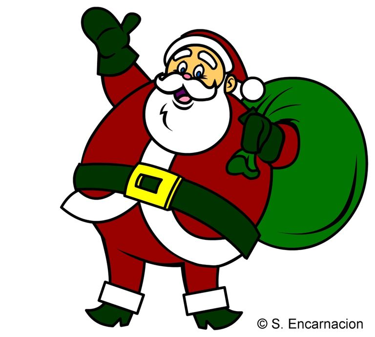 how to draw a jolly santa claus cartoon