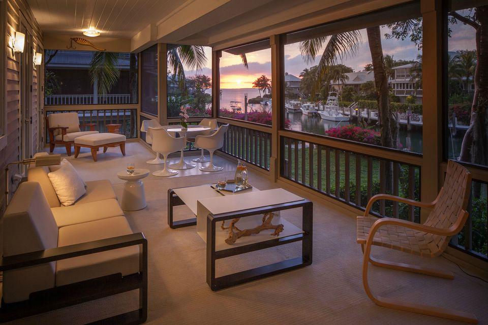 porch at dusk
