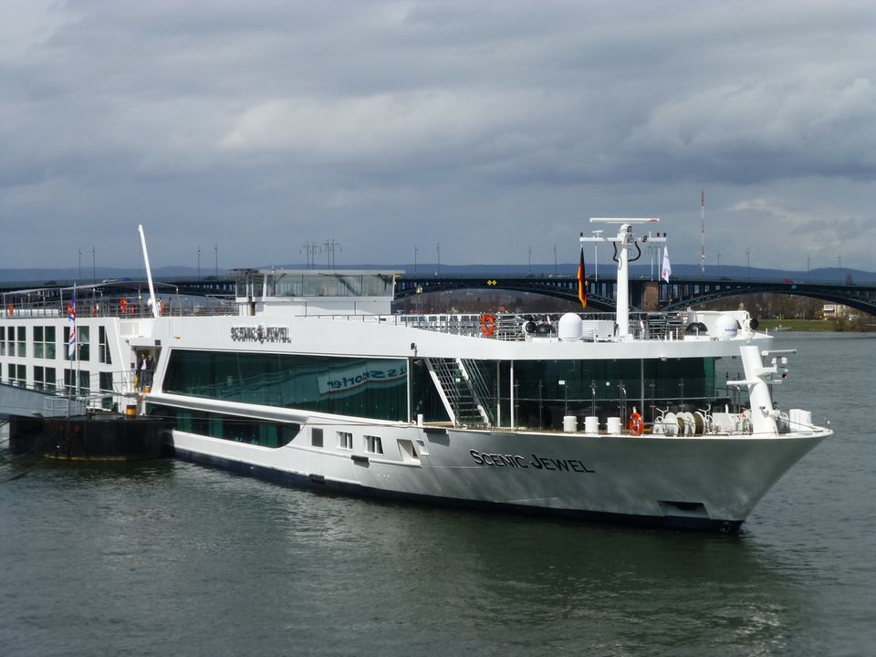 European river ship the Scenic Jewel of Scenic Cruises/Scenic Tours