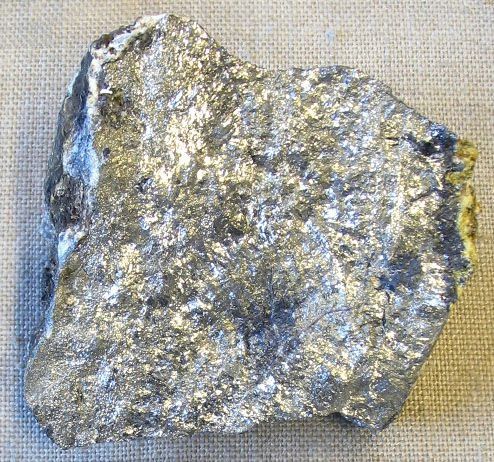 Antimony is a silvery-white crystalline metal.