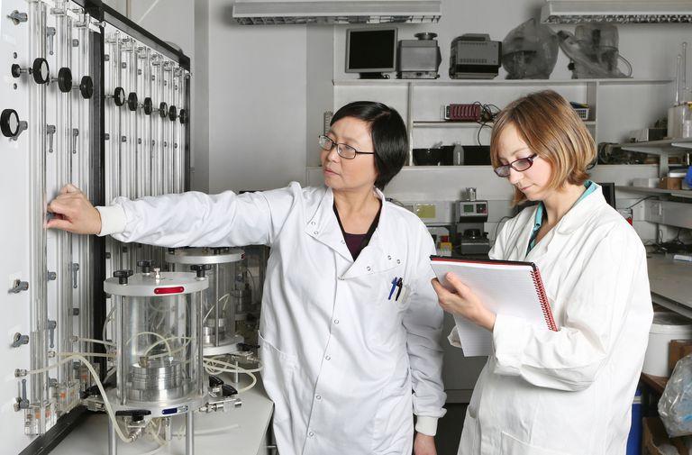 Two female environmental engineers working