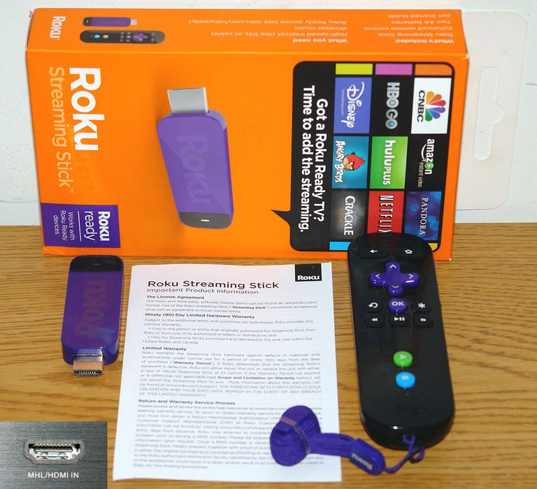 Roku Streaming Stick - MHL Version - Package Contents