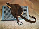 Model Horse Saddle Set with felt saddle pad.