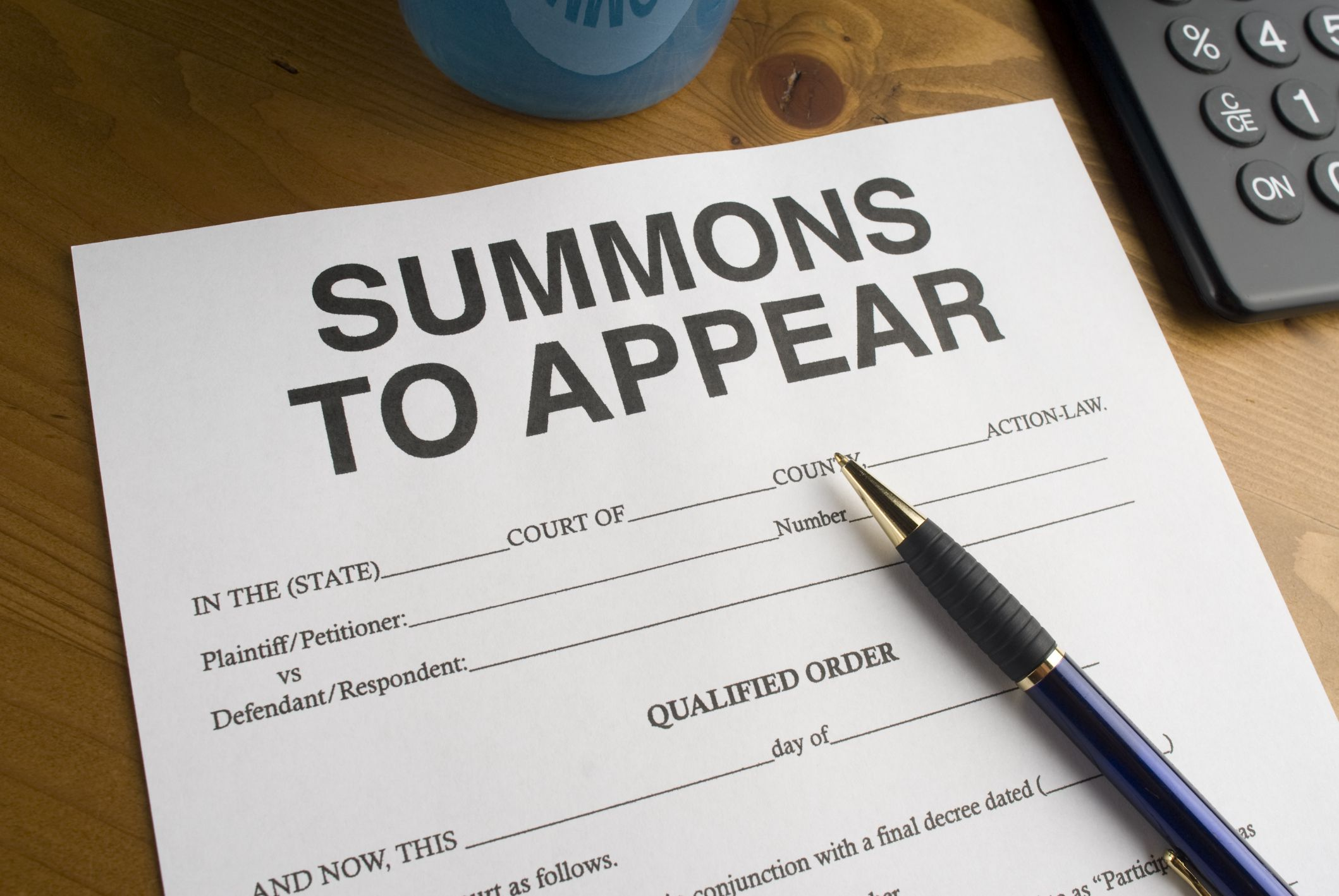 What To Do If You Receive A Summons Or A Subpoena
