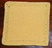 Faux Knit and Crochet Dishcloth