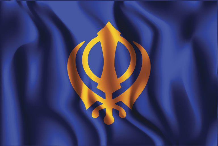 India Nishan Sahib Variant Flag. Rectangular Shape Icon