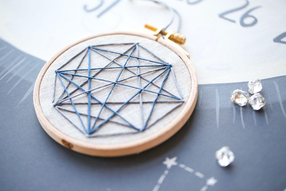 Geometric Stellar Embroidery Pattern