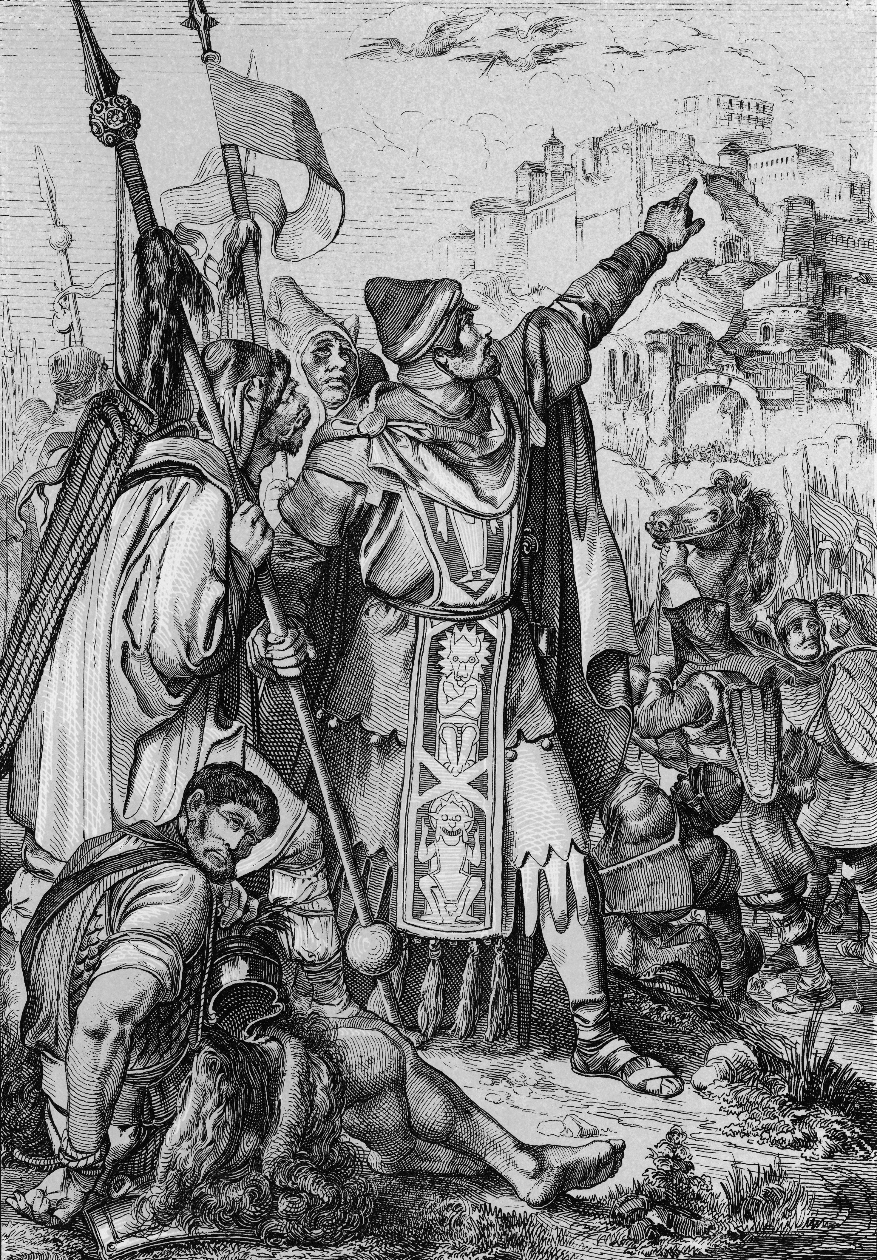 the huns and christianity [illustration] from church - christian antiquity by notre dame  the first great  barbarian invasion was due to fear of the huns, a fierce people who long before.