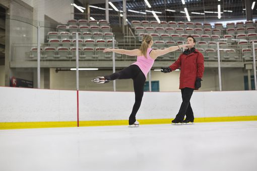 A Figure Skater and Her Coach