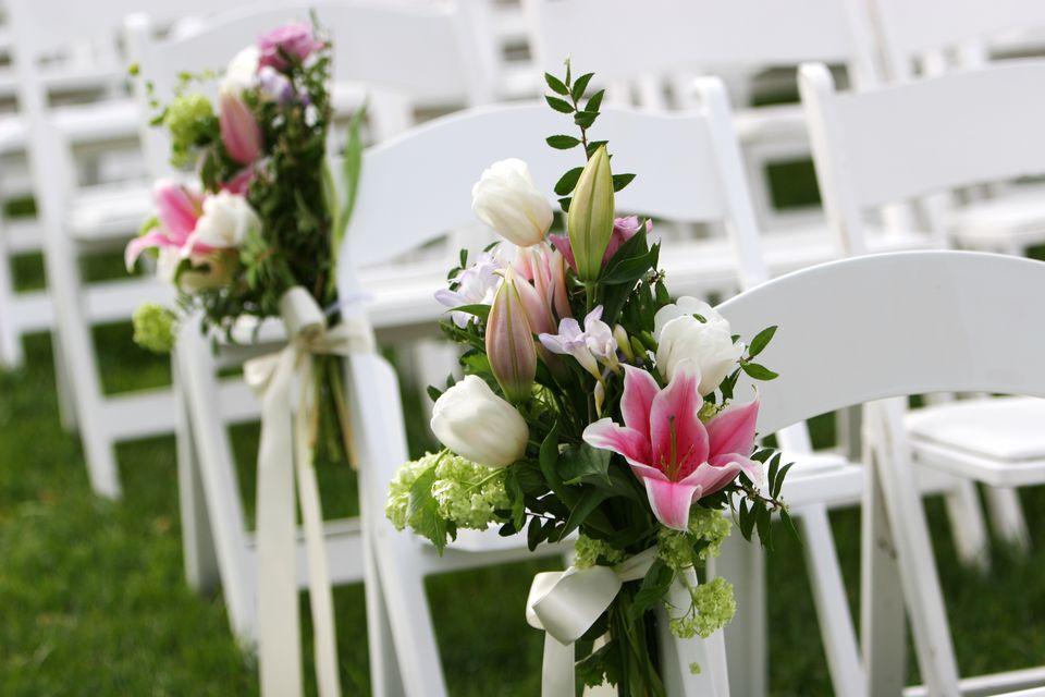 Flowers That Last Garden Wedding Scene At Outdoor Ceremony