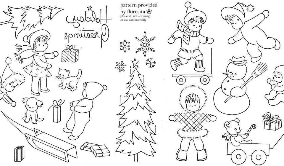 Vintage Christmas Embroidery Patterns