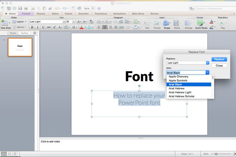 Replacing all the fonts in my presentation at one time toneelgroepblik Choice Image