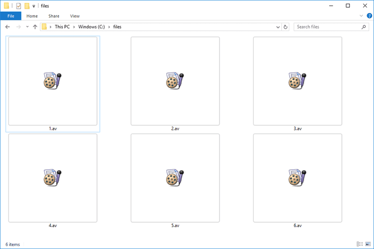 Screenshot of several AV files in Windows 10 that open with Final Draft AV