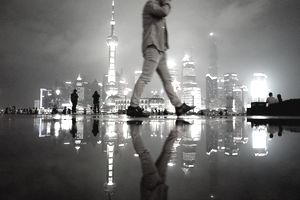 Rain night of Shanghai
