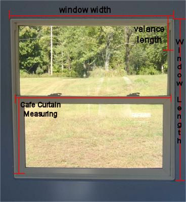 Measure a window for curtains
