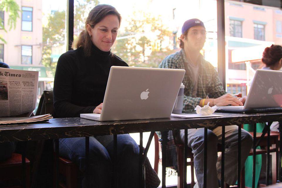 New York City woman on laptop