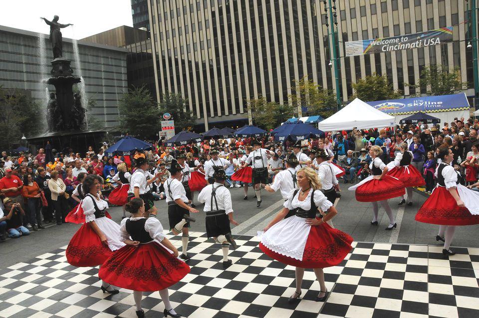 Dancing at Oktoberfest Zinzinnati