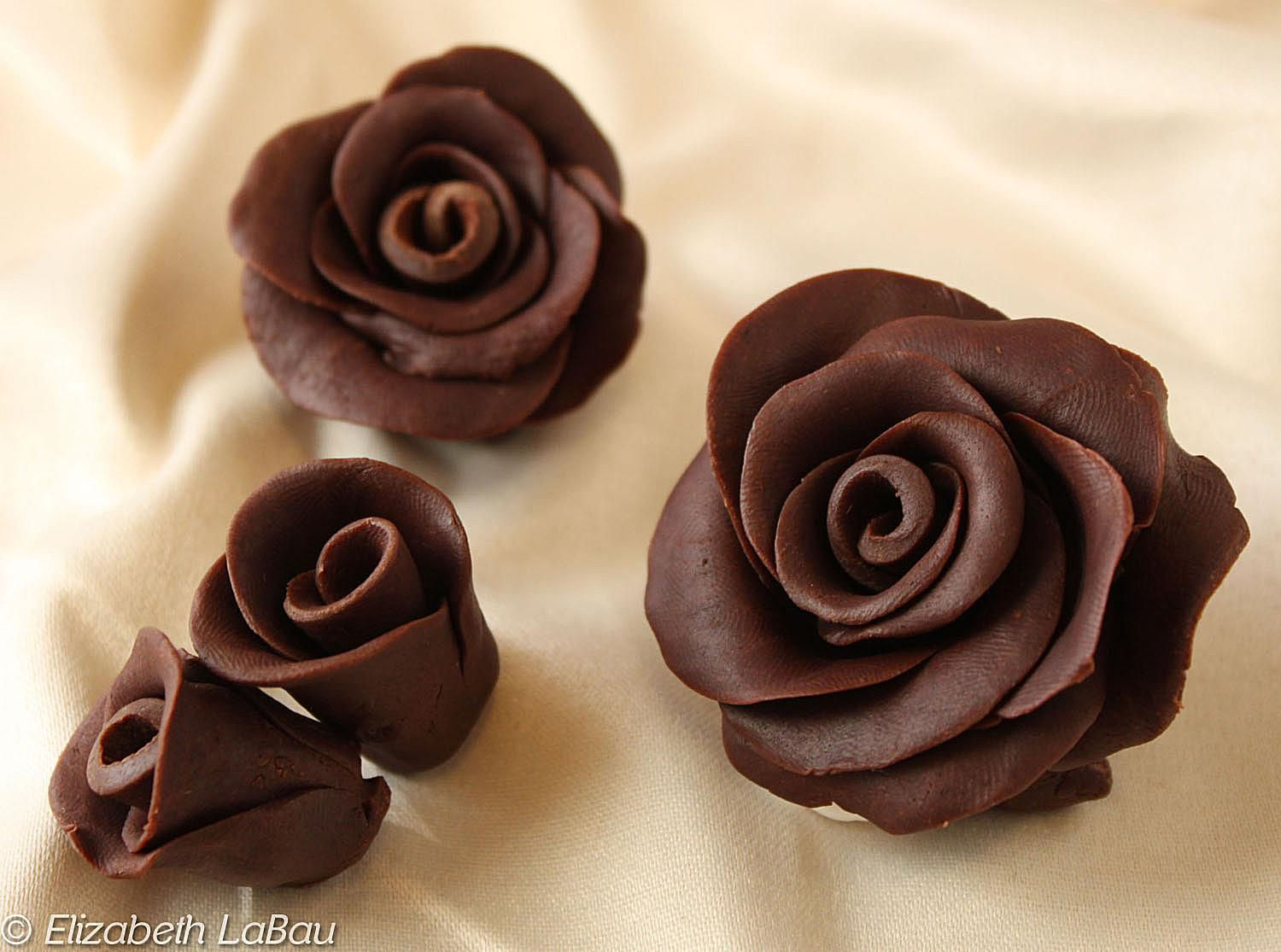 Gorgeous chocolate roses recipe for Decoration avec des roses