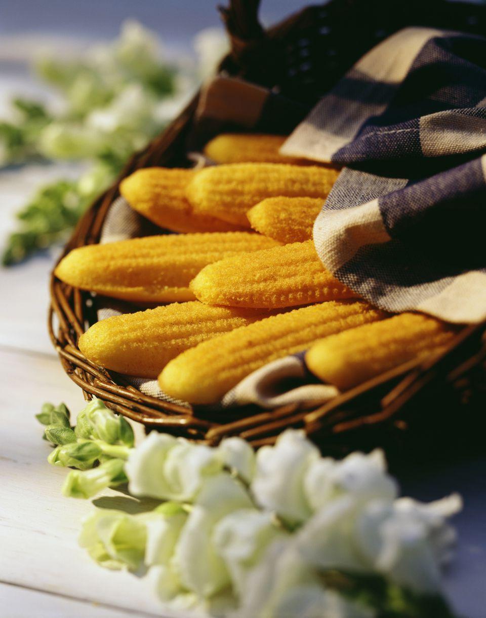Wicker Basket of Corn Bread