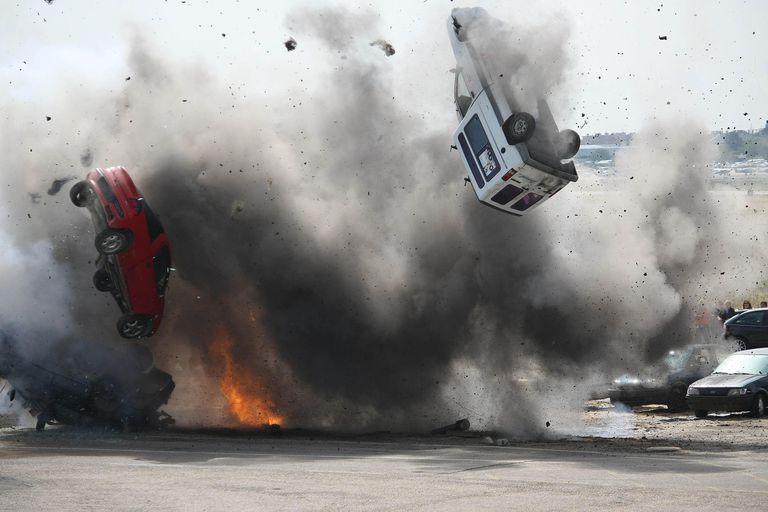 explosive car crash