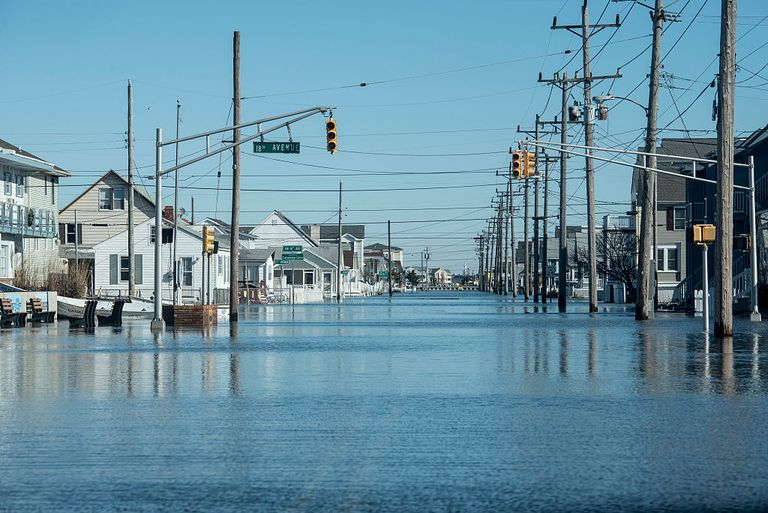 Flooding in North Wildwood, New Jersey