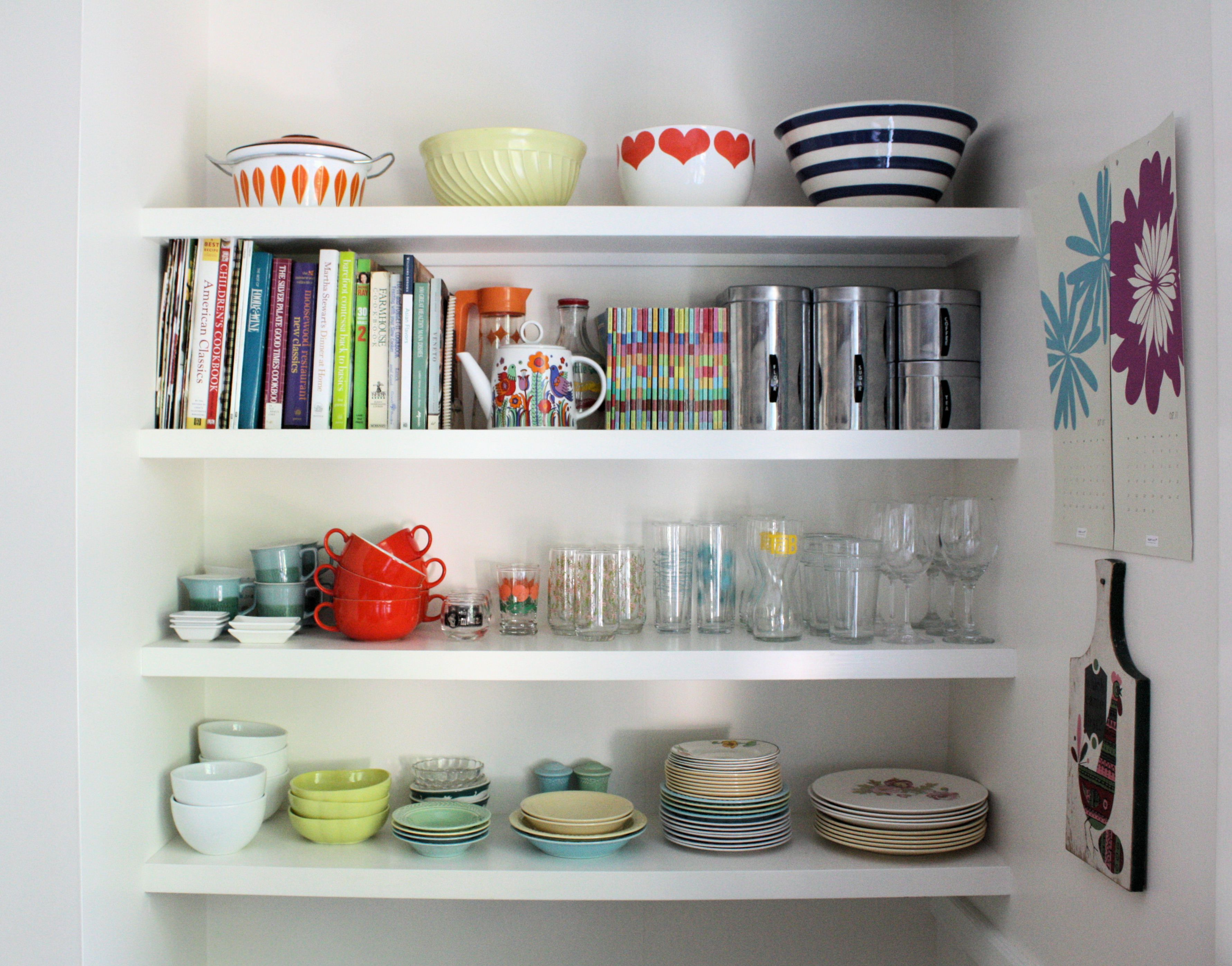 Open Kitchen Shelves Decorating Ideas