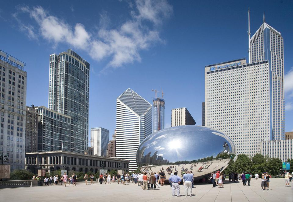 Cloud Gate, Millennium Park, Chicago, Illinois