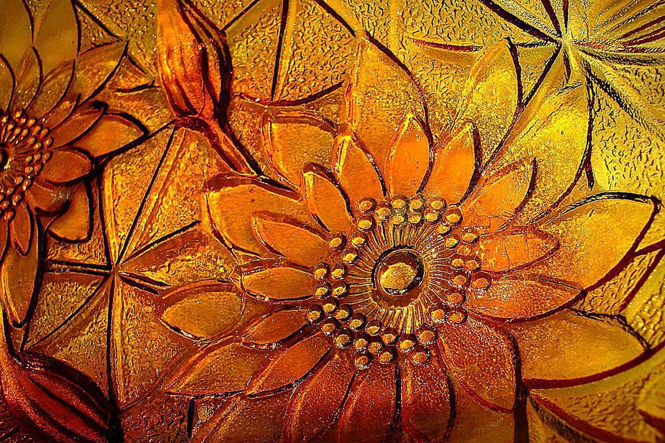 Carnival glass pattern