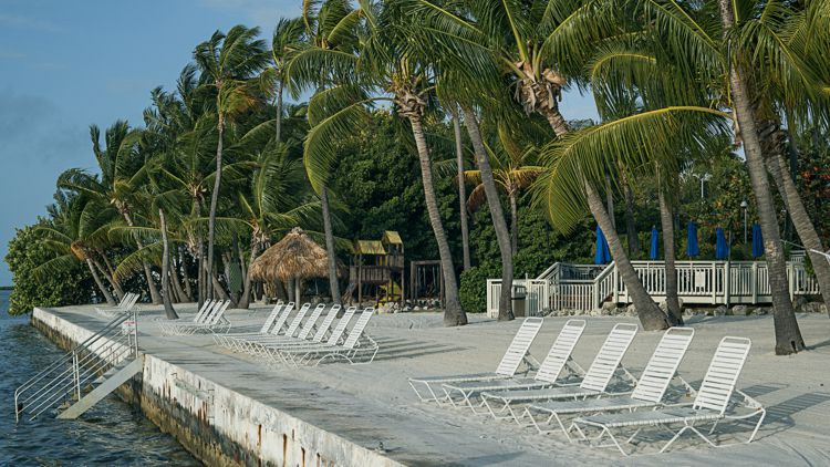 Beach at Amara Cay hotel in Islamorada in the Florida Keys