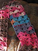 Shells and Chains Crochet Scarf Pattern by Anastacia Knits Designs