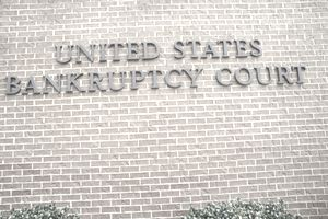 A sign that reads United States Bankruptcy Court