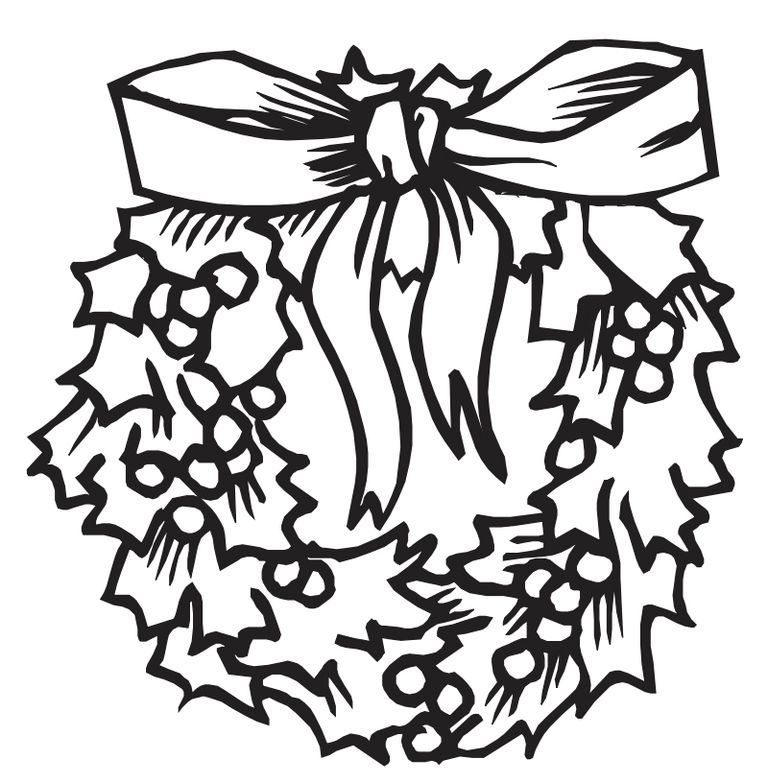 coloring castles christmas coloring pages a christmas wreath - Christmas Color Pages