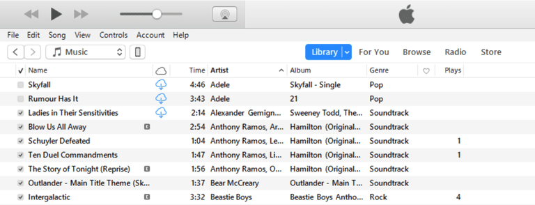 Limit iTunes Syncing, step 1