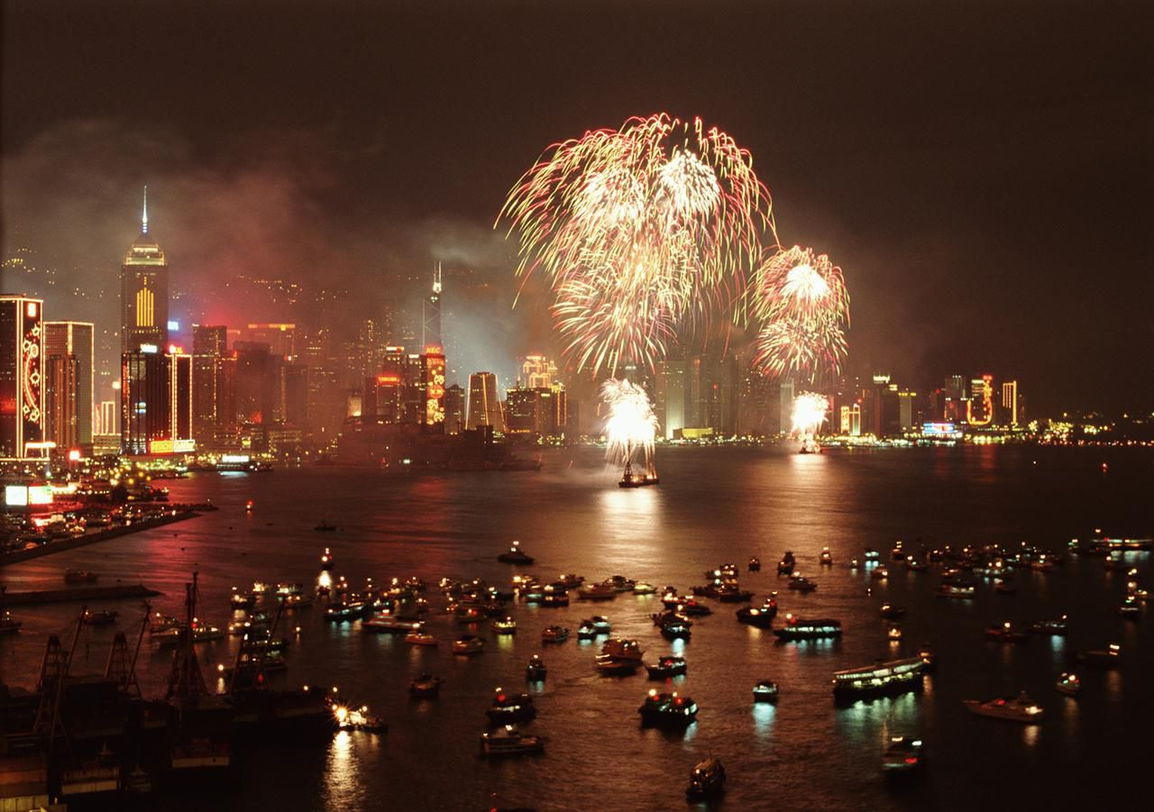 chinese new year fireworks in hong kong - Chinese New Year Fireworks