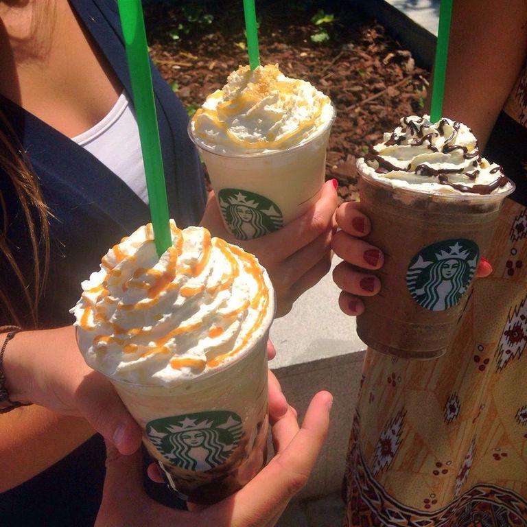 Frappuccinos, las bebidas heladas de Starbucks