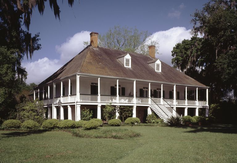 French Colonial Style Parlange Plantation 1750 New Roads Louisiana