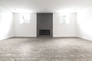 Cork flooring in unfurnished new home