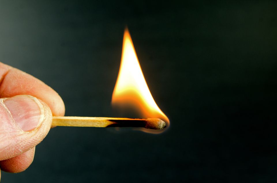Flaming Match ... Hand Held