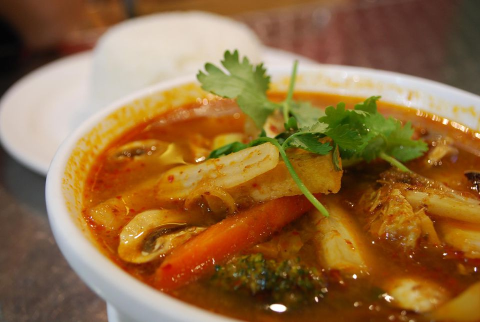 Vegetarian Tom Yum Soup