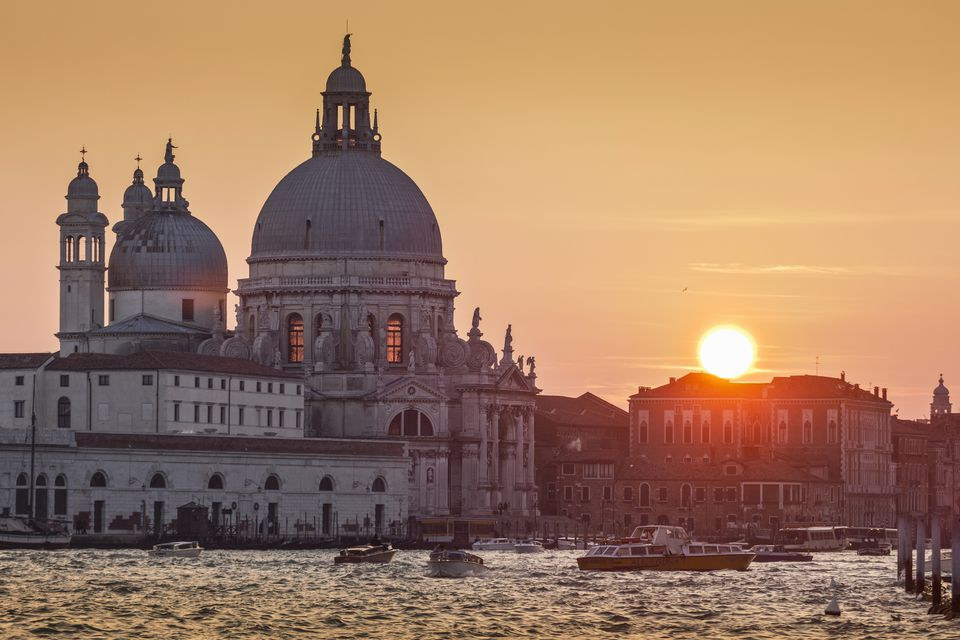 Venice at sunset.