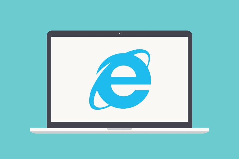 Internet Explorer 11 on laptop