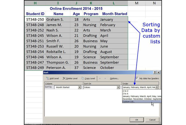 how to sort data into descending order in excel
