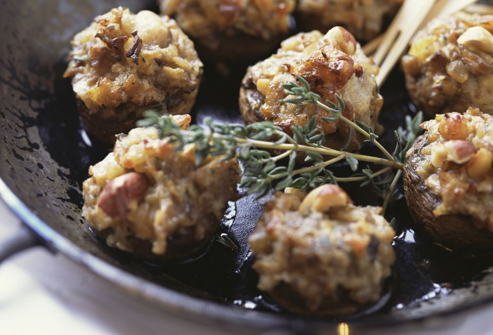 Stuffed Mushrooms with Blue Cheese, Low Carb