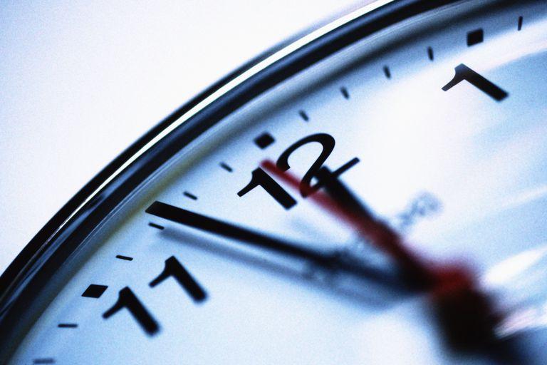 Close-up photo of a ticking clock