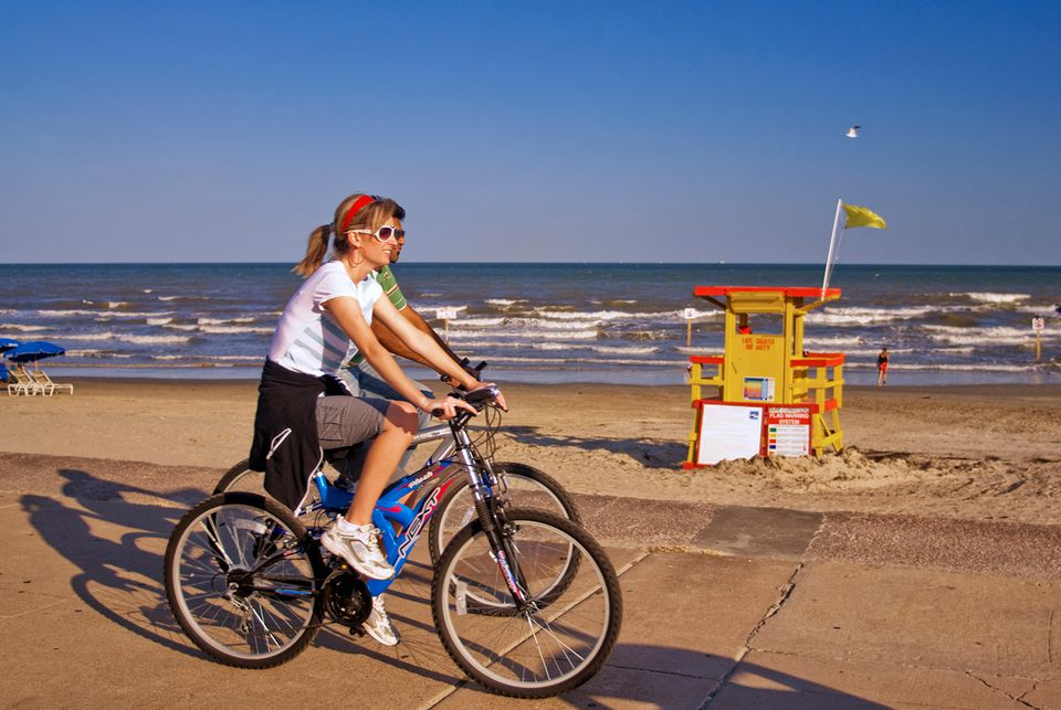 Bicyclists at Seawall Boulevard.